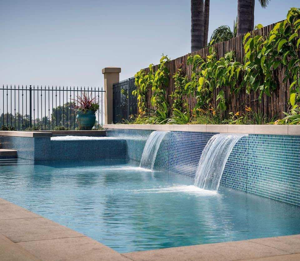 Oceanside Glasstile Feature Pool Pono Stone Glass Tiles Natural Stone Porcelain Flooring Hawaii